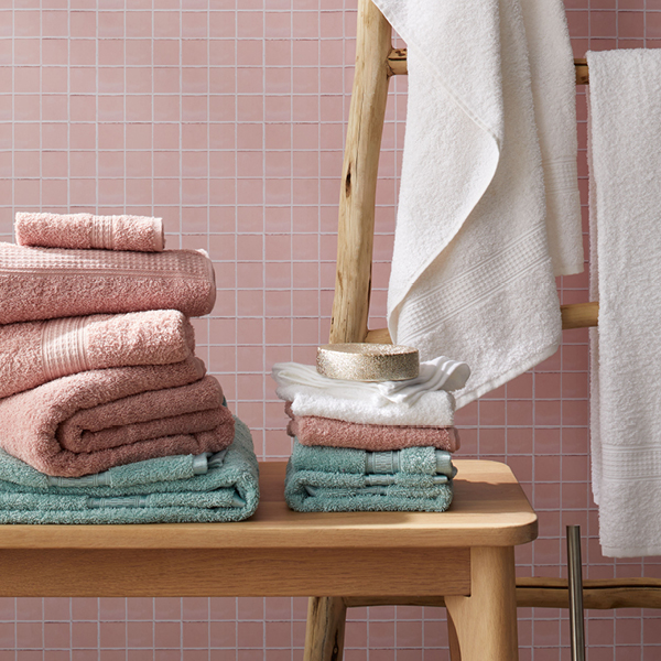 Value on towels, bath mats and bathroom accessories